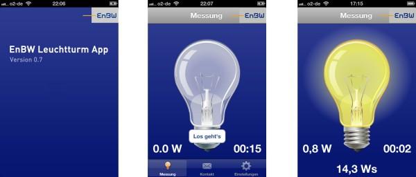 EnBW - mobile App für Messen